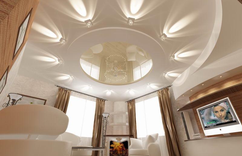Многоуровневые потолки в Круглое
