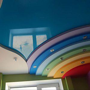 Многоуровневые натяжные потолки в детской комнате