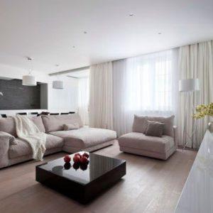 Матовые натяжные потолки в однокомнотной квартире