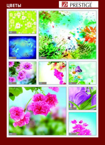 изображений для фотопечати на натяжном потолке -цветы №1