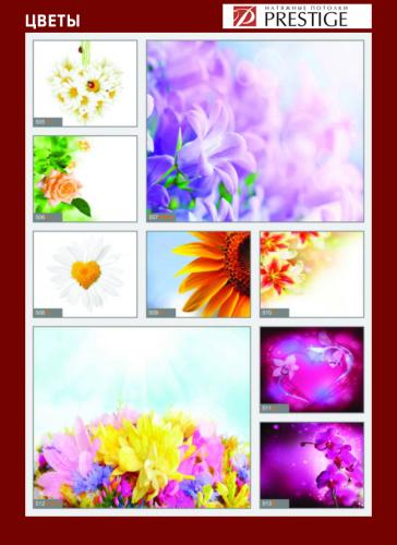 изображений для фотопечати на натяжном потолке -цветы №5