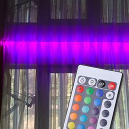 Дизайнерская подсветка с пультом в подарок в Руденске