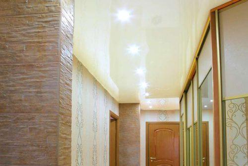 Натяжной потолок в коридор в Минске и Минской области