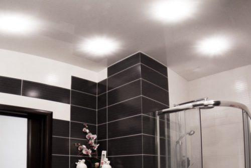 Натяжной потолок в ванную и туалет в Минске и Минской области